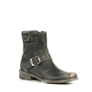 Frye Womens Smith Engineer Short Boots in Black