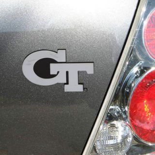 Georgia Tech Yellow Jackets Chrome Metal Auto Emblem