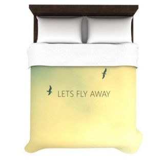 KESS InHouse Let's Fly Away Duvet Cover Collection