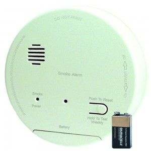 Gentex S1209F Smoke Alarm, 120V Hardwired Interconnectable Photoelectric w/9V Battery Backup, T3 Horn & A/C Contacts (917 0057 002)