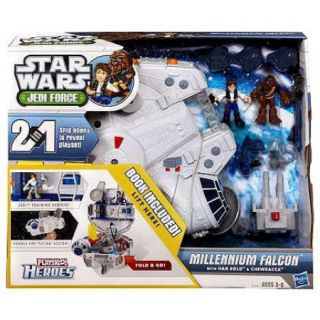Star Wars Playskool Heroes Jedi Force Millennium Falcon with Han Solo & Chewbacca