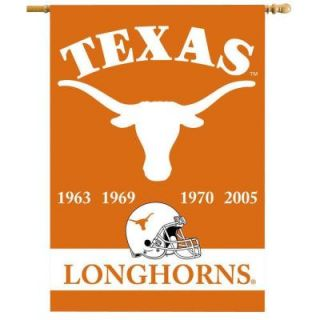 BSI Products NCAA 28 in. x 40 in. Texas Champ Years 2 Sided Banner with Pole Sleeve 96234