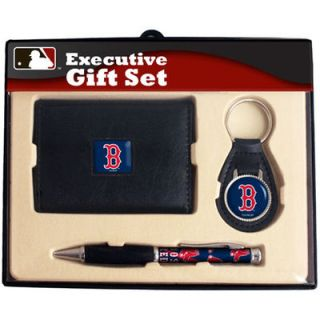 Boston Red Sox Executive Wallet, Key Fob & Pen Gift Set