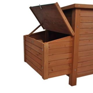 Pawhut Wooden Backyard Poultry Cage Nesting Box Hen House Chicken Coop