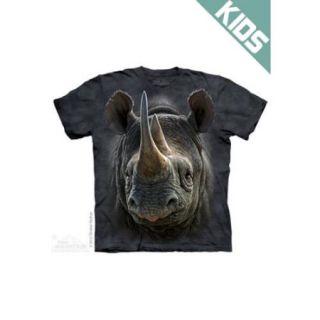 The Mountain Kids 100% Cotton Rhino Graphic Animal Novelty T Shirt NEW