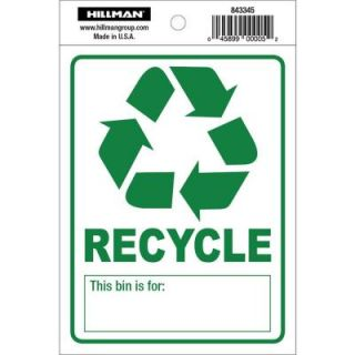 The Hillman Group 4 in. x 5 in. Recycle Decal 843345