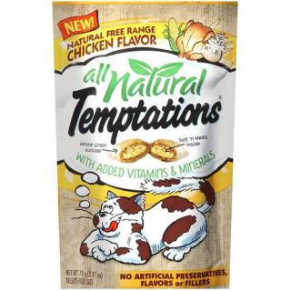 TEMPTATIONS Natural Treats for Cats Free Range Chicken Flavor 2.47 Ounces