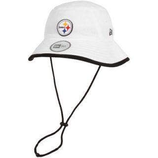 New Era Pittsburgh Steelers Training Bucket Hat   White
