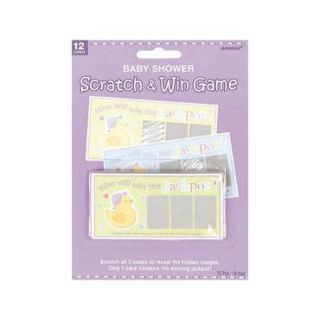 Baby Shower Scratch Off Game (Each)   Party Supplies