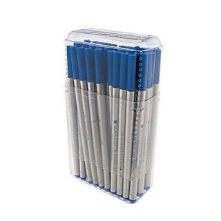 Monteverde Fine Rollerball Refill For Montblanc Rollerball Pens, Blue, 50/Pack