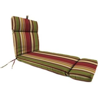 Jordan Manufacturing Outdoor Patio Replacment Chaise Lounge Cushion, Westport Henna Stripe