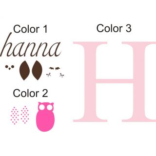Personalized Hannas Owl Wall Decal by Alphabet Garden Designs