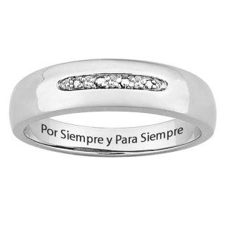 Sterling Silver Diamond Accent Por Siempre y Para Siempre Spanish