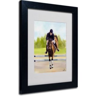 "Trademark Fine Art ""Horse of Sport X"" Canvas Art by Michelle Moate, Black Frame"