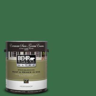BEHR Premium Plus Ultra 1 gal. #S H 450 Parsley Sprig Semi Gloss Enamel Exterior Paint 585301