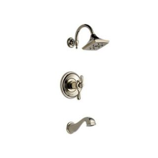 Brizo T60485 PN Charlotte Tub and Shower Medium Flow in Polished Nickel