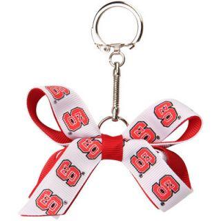 NC State Wolfpack Womens Two Tone Mini Bow Keychain