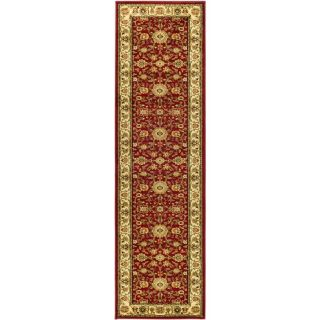 Safavieh Lyndhurst Red and Ivory Rectangular Indoor Machine Made Runner (Common: 2 x 16; Actual: 27 in W x 192 in L x 0.5 ft Dia)