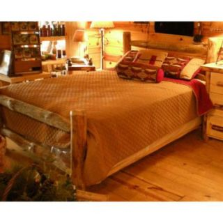 Western Corral Log Bed (Unfinished, Twin)