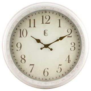 La Crosse Technology 16 in. H Round Antique Patina Analog Wall Clock 404 2641