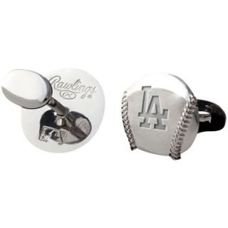 Los Angeles Dodgers Rhodium Plated Cufflinks