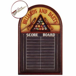 Billiards and Darts Pub Sign   Wall Art