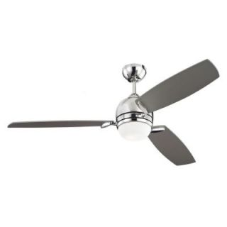 Monte Carlo Muirfield 52 in. Polished Nickel Ceiling Fan with Silver Blades 3MUR52PND