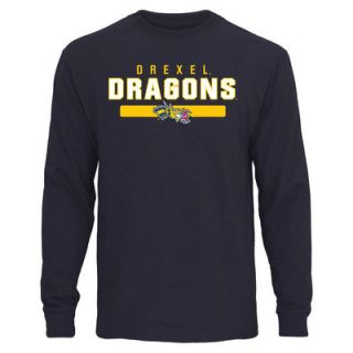 Drexel Dragons Team Strong Long Sleeve T Shirt   Navy Blue
