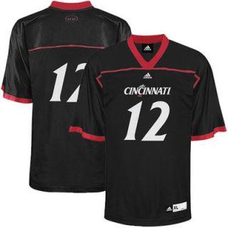 adidas Cincinnati Bearcats #12 Black Replica Football Jersey