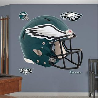 """Officially Licensed NFL Team """"Helmet"""" Wall Decals by Fathead   Eagles   7601667"""