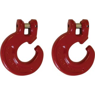 Portable Winch C-Hook for Choker Chains — 1/4in.–5/16in., 2-Pack, Model# PCA-1299X2  Winch Kits, Straps   Hooks