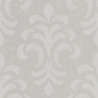 56 sq. ft. Atlantic Grey Modern Damask Wallpaper 301 66965