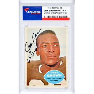 Jim Brown Cleveland Browns  Authentic Autographed 1960 Topps #23 Card with 64 Champs Inscription