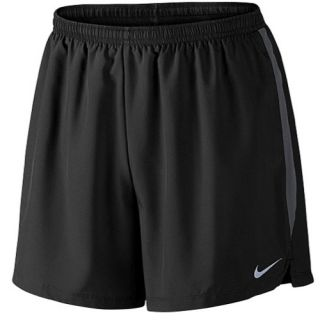 Nike Dri FIT 5 Challenger Shorts   Mens   Running   Clothing   Black/Anthracite/Reflective Silver