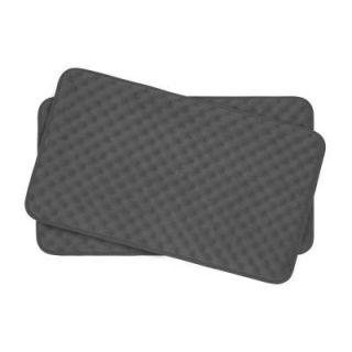BounceComfort Massage Dark Gray 17 in. x 24 in. Memory Foam 2 Piece Bath Mat Set YMB002035