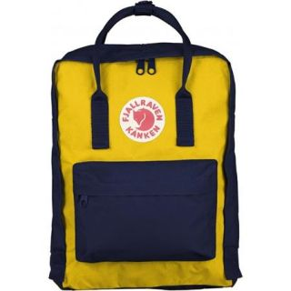 F23510 560 141 Fjallraven Fjallraven Classic Kanken Backpack, Navy/Warm Yellow