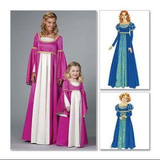 Misses'/Children's/Girls' Renaissance Costumes   MISS (SML   MED   LRG   XLG) Pattern