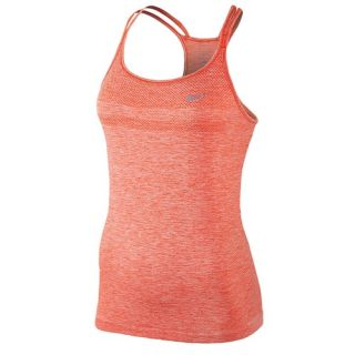 Nike Dri FIT Knit Strappy Tank   Womens   Running   Clothing   Light Crimson/Heather/Reflective Silver