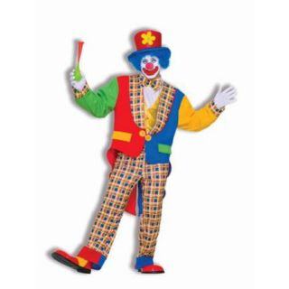 """Men's Clown on the Town Costume   Size Up to 42"""""""