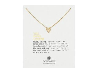 Dogeared The Dog Lover Chevron Heart Necklace Gold Dipped, Gold, Women