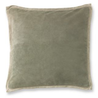 Suede Pillow Cover With Linen Backing, Smoke