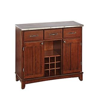 Home Styles 36.25 Asian Hardwood & Stainless Steel Buffet Server