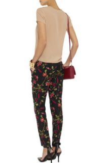 Shaelyn floral print crepe straight leg pants  Joie