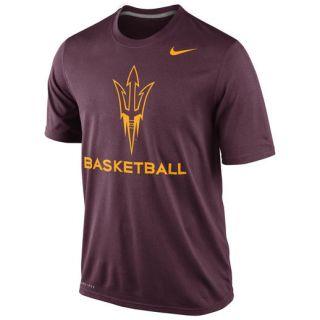 Nike Arizona State Sun Devils Maroon Basketball Practice Dri FIT T Shirt