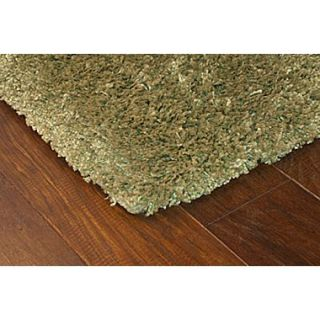 StyleHaven Shag Green/ Green Indoor Machine made Polypropylene Area Rug (53 X 79)