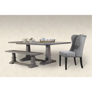 A&E Wood Design 850DTB French Restoration Provence Farmhouse Dining Table