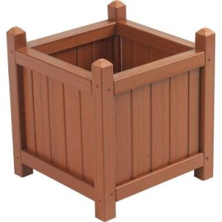 Cal Designs 16 in. Redwood Crown Planter DISCONTINUED WOOD189 RWR H WOOD PLANTER BOX