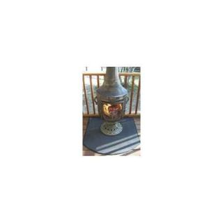 Fire Resistant Chiminea Outdoor Fireplace Pad   Half Round
