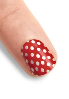 You've Got Nail Stickers in Dotted Cherry  Mod Retro Vintage Cosmetics