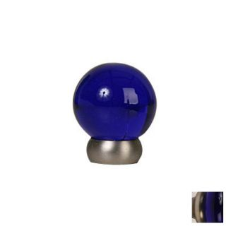 Lew's Hardware 1 1/8 in Brushed Nickel Glass Ball Series Globe Cabinet Knob